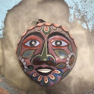 Painted ceramic head from Tonala, Mexico, $90
