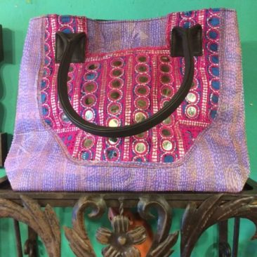 Kantha-stitched bag
