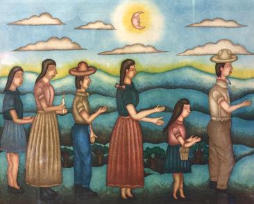"Felipe Morales, hand colored print (2001), $450 23 x 26"""