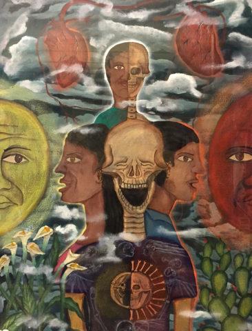 "Demetrio Garcia Aguilar, original gouache painting, $375, 16.5 x 21.5"""
