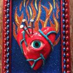 Bob Levy, Flaming Heart, mixed media, $75