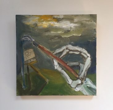 Jed Williams, Death is an Artist, oil on canvas, $100