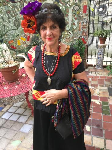 Julia Zagar in Mexican attire