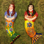 Ceramic mermaid ornaments