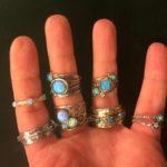 Ruth Doron opal rings
