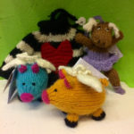 Knitted animals and sweater ornaments