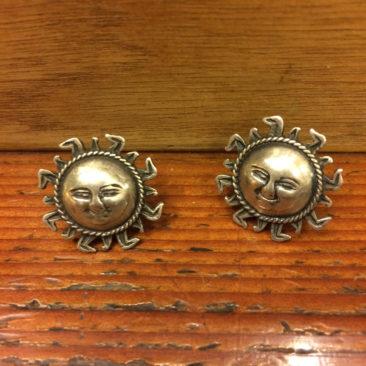 Mexican sterling silver sun stud earrings, $42