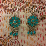 Silver and Tibetan turquoise earrings