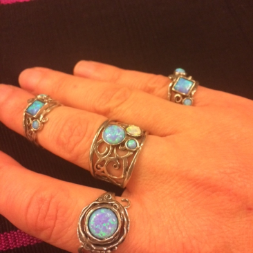 Ruth Doron opal and silver rings
