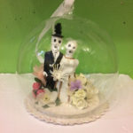 Day of the Dead wedding globe ornament