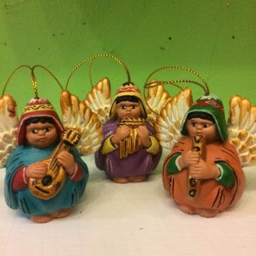 Peruvian musical cherubim ornaments, $9.50 each