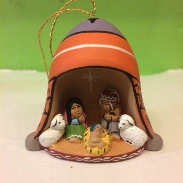 Peruvian ceramic nativity ornament, $16