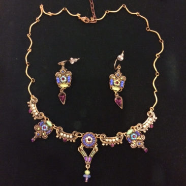 Ann Egan earrings, $67, and necklace, $125