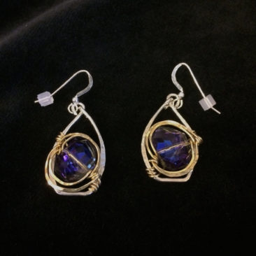 Crystal earrings, $70 by ART BY ANY MEANS