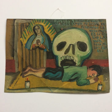 Virgin with Skull Ex Voto