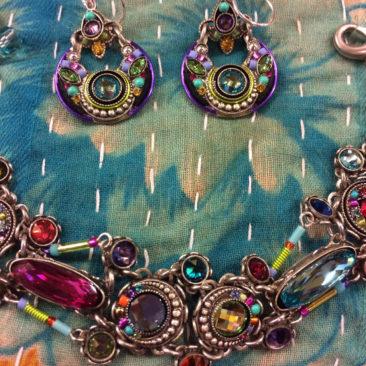 Firefly earrings, $82, and bracelet, $180