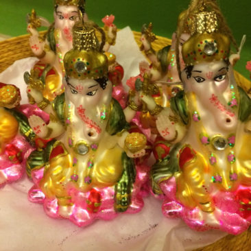 Ganesh glass ornaments, $8.50 each