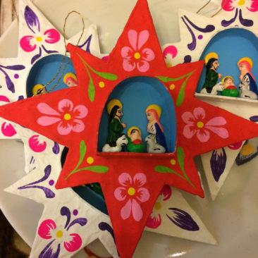Peruvian star nativity ornaments, $12 each
