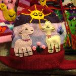 Handknit Peruvian child's hat