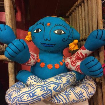 Handmade plush Nepalese doll, $46