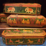 Hand-painted wooden jewelry boxes, $145 each