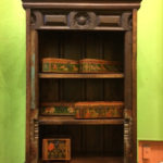 Wooden shelved display piece