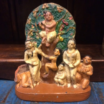 Vintage Indian altar deity, $58