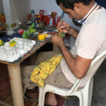 A Colombian artisan at work