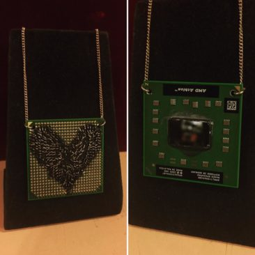 Cyberpunk necklace by Emily Czudak