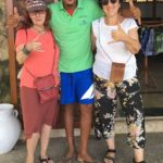 Julia and Deb make new friends on the island of San Pedro de Majagua
