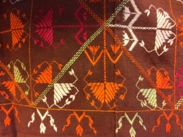 Detail, geometric Phulkari pattern (textile is $350)