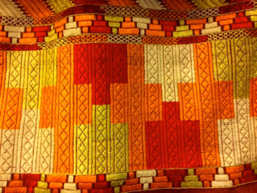 Detail, geometric Phulkari pattern (textile is $350)