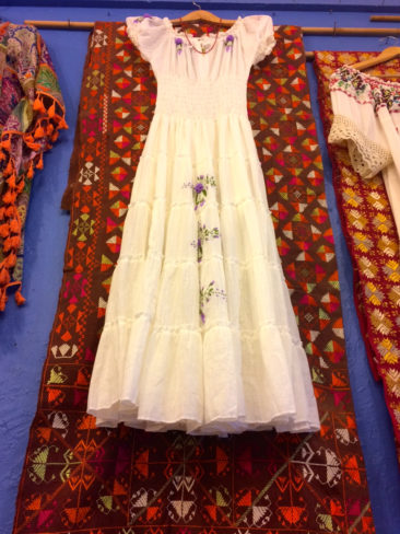 Dress with Phulkari background (textile is $350)