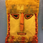 Wall hanging made with pre-Colombian fabrics, $96