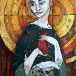 "Kristen Buck, ""Mother of Death,"" paper collage, $745"