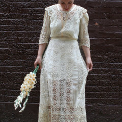 Antique Lace Dress from 1800s – Victorian wedding dress from Paris