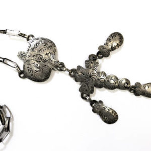 Mexico, Mexican jewelry, silver, necklace, cross, antique, antique jewelry, antique mexican necklace, $425
