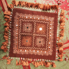 Beaded, Mirrored, and Embroidered Vintage Indian Textile