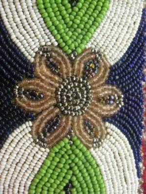 native american, native american belt, vintage, vintage belt, beads, leather, cotton, $110