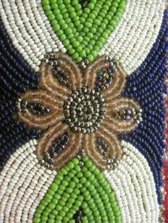 native american, native american belt, vintage, vintage belt, beads, leather, cotton, $110