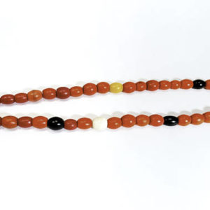 naga, nagaland, nagaland beads, orange, white, black, colorful, glass, glass beads, necklace, jewelry, $125
