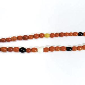 naga, nagaland, nagaland beads, orange, white, black, colorful, glass, glass beads, necklace, jewelry, $125