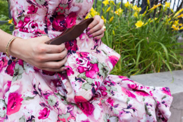 Pink floral clutch by HEARTS AND ROSES, $36. Photo by Jessica Laudicina. Styling by Carole Shields.