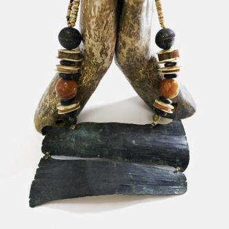 pre-columbian necklace, necklace, copper, antique copper, antique necklace, coral, apple coral, inca, incas, $350