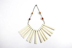 necklace, bone, boho, naga, nagaland, India, Indian jewelry, nagaland jewelry, $78