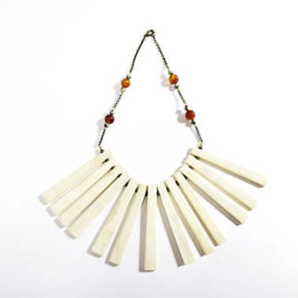 necklace, bone, boho, naga, nagaland, India, Indian jewelry, nagaland jewelry, $78