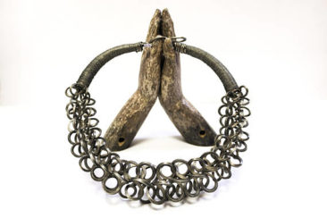 Vintage tribal necklace from the Miao people of Hunan, China. $650