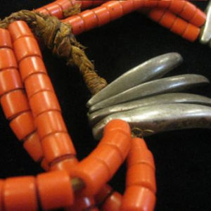 nagaland, naga, nagaland necklace, necklace, jewelry, beads, nagaland beads, claws, india, $250