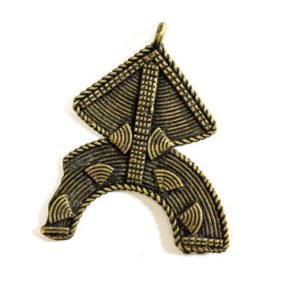 kuba tribe, central africa, pendant, jewelry, brass, brass pendant, african tribe, tribal, tribe, $12