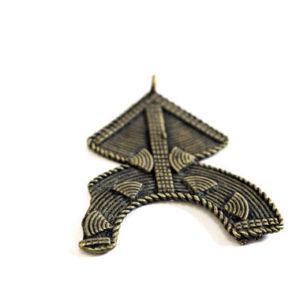 kuba tribe, central africa, pendant, jewelry, brass, brass pendant, african tribe, tribal, tribe, $12